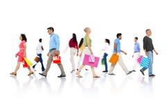 购物的购买零售顾客消费者销售概念 免版税库存照片