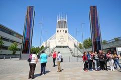 大教堂罗马宽容的利物浦 免版税图库摄影