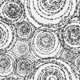 模式无缝的向量 现代时髦的纹理 重复与线性三角的几何背景 不同地大小的圈子  免版税库存图片