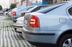 припаркованная компания автомобилей Стоковое фото RF