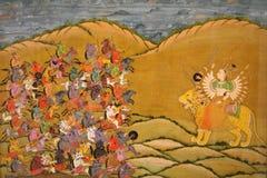 印第安老绘画 免版税库存图片