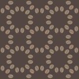 Картина кофейного зерна безшовная Стоковая Фотография