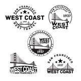 Штемпель логотипа Сан-Франциско Стоковые Фотографии RF