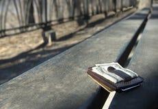 χαμένο πορτοφόλι Στοκ Εικόνες