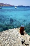村庄生锈的金属阿雷西费兰萨罗特岛 免版税库存图片