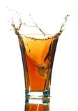 το ποτό απομόνωσε το μαλακό λευκό παφλασμών Στοκ φωτογραφία με δικαίωμα ελεύθερης χρήσης