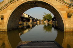 西塘水村庄  图库摄影