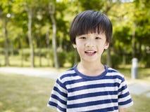 亚裔男孩一点 免版税库存照片