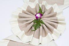 Ткань украшения для кровати в спальне Стоковая Фотография