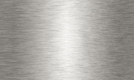 Большая почищенная щеткой алюминиевая текстура предпосылки Стоковые Фотографии RF