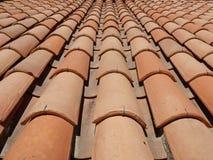 красная плитка крыши Стоковая Фотография RF
