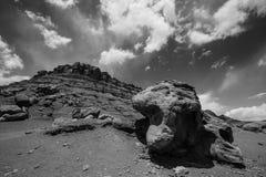 平衡的岩石利斯轮渡可可尼诺县亚利桑那 库存图片