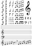 音乐注意汇集 免版税库存照片