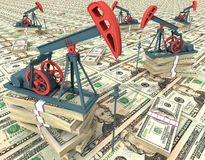 αντλίες πετρελαίου Στοκ φωτογραφία με δικαίωμα ελεύθερης χρήσης
