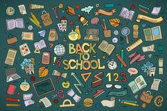 学校和教育乱画手拉的传染媒介 免版税图库摄影