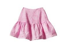 桃红色裙子 免版税库存图片