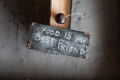 食物我的最好的朋友概念 免版税库存图片