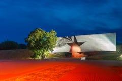 Вход к крепости на ноче, Беларуси Бреста Стоковое фото RF