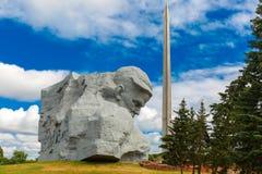 主要纪念碑布雷斯特堡垒-无名战士 库存图片
