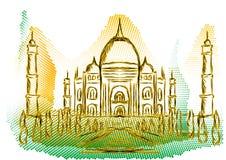 Εικονική παράσταση πόλης της Ινδίας Στοκ Εικόνες