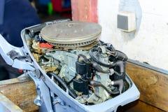 船外引擎测试 免版税库存照片