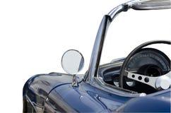 被隔绝的蓝色敞篷车跑车 免版税库存照片