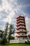 中国庭院,新加坡天堂般的塔  免版税图库摄影