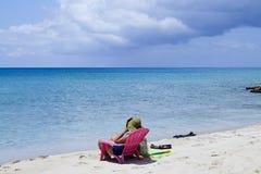 加勒比海滩下午 免版税库存照片