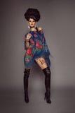 Женщина в традиционном русском платье Стоковое Фото