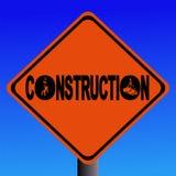 προειδοποίηση σημαδιών κατασκευής Στοκ Φωτογραφία