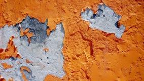 朽烂橙色颜色墙壁 免版税库存图片