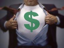 ανεμιστήρας δολαρίων αγοριών λογαριασμών που κρατά εκατό χρήματα ατόμων ένα Στοκ Εικόνα