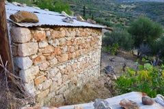 石存贮棚子 库存照片
