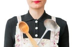 妇女厨师 库存照片