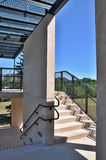 Внешний проход лестниц Стоковое Фото
