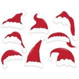 圣诞节圣诞老人帽子 免版税库存图片