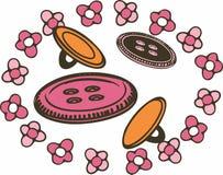 Флористические кнопки Стоковая Фотография RF