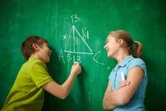 Χαρούμενοι συμμαθητές Στοκ εικόνα με δικαίωμα ελεύθερης χρήσης