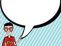 人认为和人谈话与对话讲话泡影 免版税图库摄影