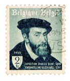 比利时邮票葡萄酒 免版税库存照片