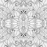 Безшовная абстрактная племенная картина (вектор) Стоковое Изображение