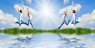 счастливая жизнь Стоковые Изображения