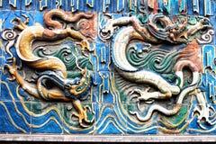 古老五颜六色的龙,中国 免版税库存图片