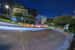 旧金山在晚上 库存照片