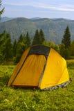 黄色帐篷 免版税图库摄影