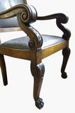 雕刻椅子木头 免版税库存图片