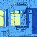 Иллюстрация вектора спать девушки Стоковое Изображение RF