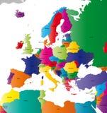 Χάρτης της Ευρώπης Στοκ Εικόνα