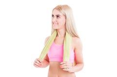 女性健身辅导员微笑 库存照片
