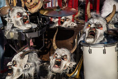 маски праздника потехи масленицы Стоковые Изображения RF